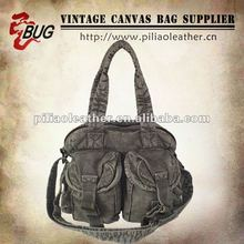 Popular Vintage Fashion Cotton Canvas Handbag/Shoulder Bag