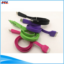 colorful 30 pin noodle usb cable practical