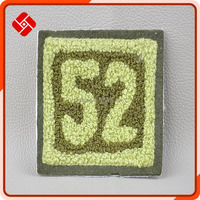 factory direct sale toweling number embroidery patch for clothing