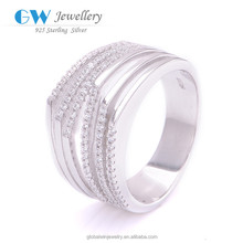 925 Solid Silver Rings Mounts Cz Stones For Only Love FR046