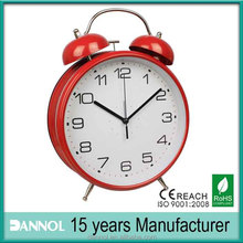 "8"" big Metal Table Twin Bell FISH DIAL Alarm Clock/red twin bell alarm clock/saat"