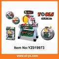 2015 novo brinquedo mecânica tool box set, ferramenta de inteligência e brinquedos, mini brinquedo plástico ferramentas para as crianças