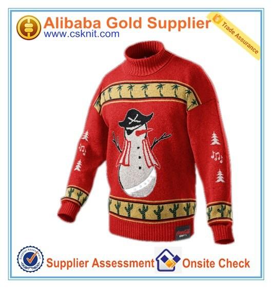 Suéter suéter china 100% algodón suéter de la navidad jumper con alta calidad