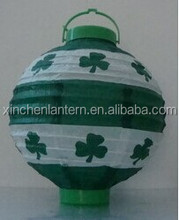 New fashion green leaves paper battery lantern