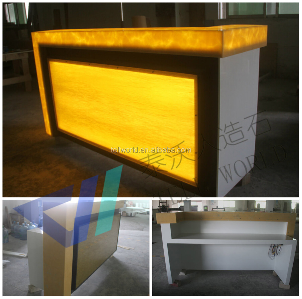 Lighted nightclub bar counter top modern wine bar counter designs luxury fancy nightclub - Bar counter design ...