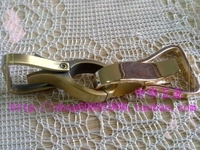 DIY handmade jewelry bags leather handbag hardware accessories thick dog buckle Qing Gu sweep + light gold