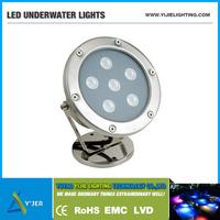 YJS-0001 IP68 6W 12W 12V 24V DC round underwater LED pond light