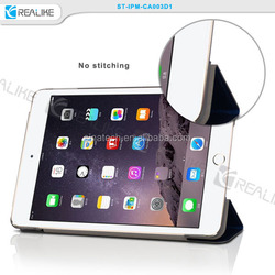 hot folio standing tablet pu cover for ipad mini 4, high end voltage finishing