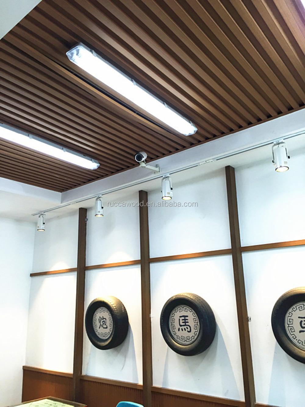 rucca wpc madera compuesto tablero del techo pvc diseo falso techo para decoracin interior