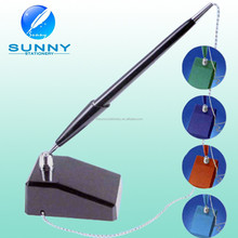 hot sale promotional metal desk ball pen with chain for bank,gift
