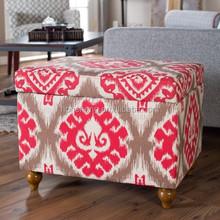 Cloth Fabric Storage Ottoman OT-763