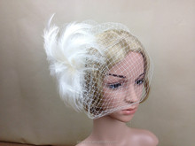 Latest Design Ladies Wedding/Party Feather Veil Fascinator Bridal Accessories