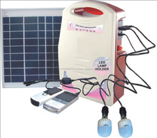 10 W Mini Solar Home Lighting System with FM Radio,Mobile charger and DC Fan