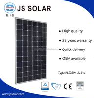 CE TUV IEC UL certificated solar module/ panel 295-315W mono high quality