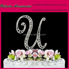 Beautiful Dazzling Cake Jewelry Monogram Crystal Cake Toppers to decorate any wedding cake for the big even