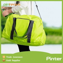 Promotional good sale polyester foldable travel bag