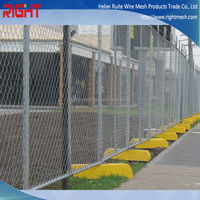 Modular Temporary Fence Panels, Wire Mesh Fence with High Quality