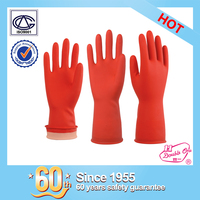 wholesale household garden rubber safety work latex glove with ISO certificate