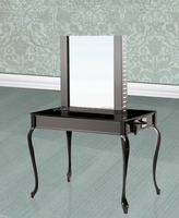 2015 new single sides stainless steel hair salon styling mirror station : CHM-28
