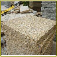 Bushhammered g682 yellow granite stone patio rectangle pavers