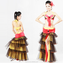 Latest 4layer 2pcs Sexy Internation Belly Dance Competition Outfit PS5013-PQ5013