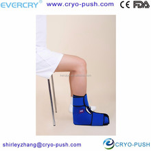 ankle cold pack with improved patients compliance and tolerance
