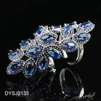 Trendy Micro Pave 925 Silver Sterling Jewelry, Hollow out Knuckle Ring, Art Deco Various CZ Color Full Finger Ring