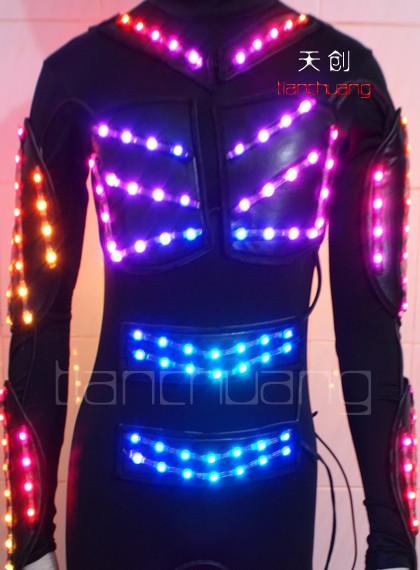 Programável sem fio DMX512 LED piscando traje performance de palco