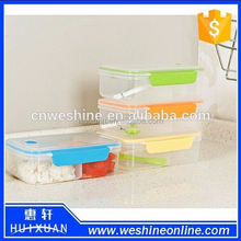 3-Compartment Bento Lunch Box Containers, Set of 4, Classic/Plastic lunch box/Plastic food container