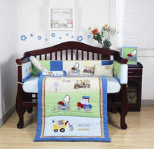 2014 popular fashion smart new blue color car design baby bedding set handmade 3D made in china --For boy KLF438