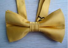 China supply handmade satin ribbon bow tie/necklace wholesale