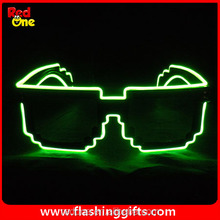 Hot New style 3 color el wire glasses party 8 bit glasses el pixel glasses el wire chrismas decoration