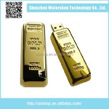Wholesale gold bar 2.0 metal 16gb usb pen drive