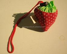 strawberry foldable nylon shopping bag