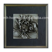 Modern Decorative Flower Design Painting with Frame