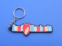 Hot 3D colorful letters keyring, I love heart hands pvc key holder