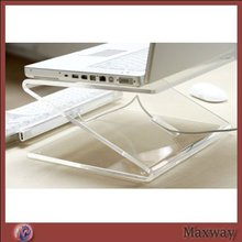 Z shape well polished desktop acrylic laptop/notebook computer display holder
