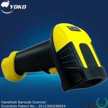 Yellow RS232 laser barcode scanner