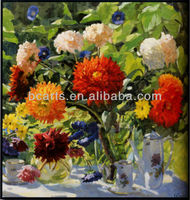 Colorful high quality acrylic paintings flowers wall art, beautiful 3d flowers pictures giclee canvas print, made in China