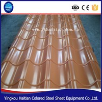 Color corrugated metal steel roofing sheet /step tiles roofing nigeria/cheap pre-coated roofing tiles