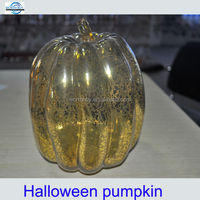 2014 vintage glass halloween pumpkin decoration from China factory