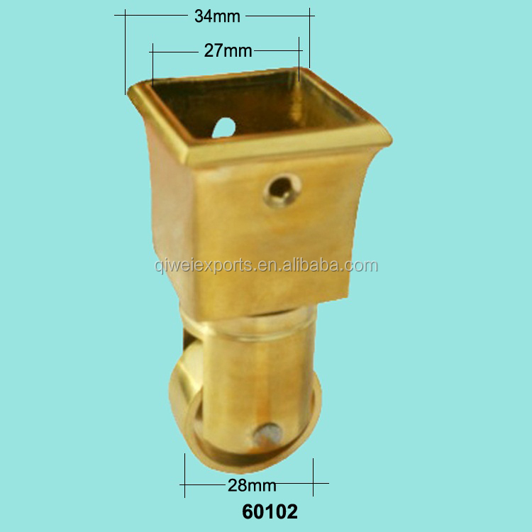 60102 Brass Furniture Wheel