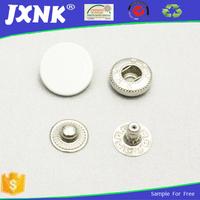 white cap metal press snaps ,silver bulk snap fasteners