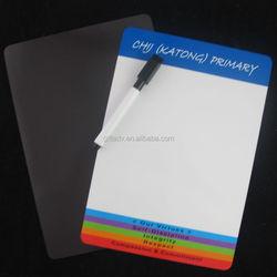 Hot-selling custom logo erasable magnet whiteboards with magnet mark pen for Kids