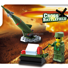 Lightweight Intelligent Building Bricks Toy & Guided Missile Base Of Cross Battlefield Series Building Block Toy
