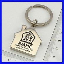 Quality Customized House Shaped Metal Keychains, Promotional metal keychains,Make Your Own Logo Plain Metal Keychains
