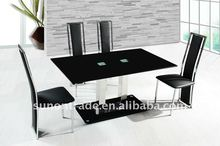 glass top metal dining room tables