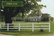 AFOL pvc ranch fence pvc fire resistant fence