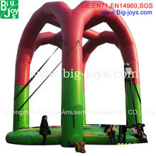 Professinal design inflatable sport games with bungee trampolines