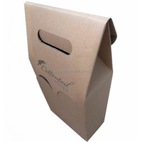 china wholesale eco friendly brown kraft gift box for wine